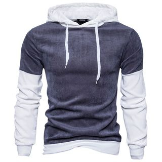 Long-Sleeve Color-Block Hooded Top from Sheck