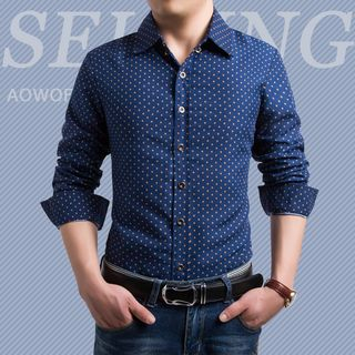 Long-Sleeve Dotted Shirt from Sheck