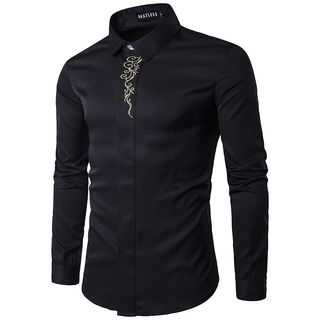 Long-Sleeve Embroidered Shirt from Sheck