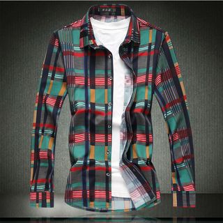 Long Sleeve Plaid Shirt from Sheck