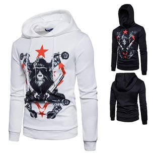 Long-Sleeve Printed Hooded Top from Sheck