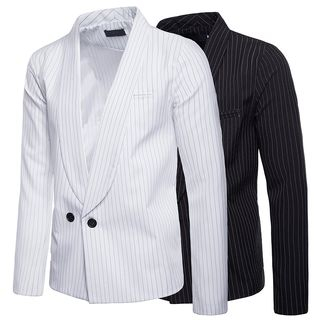 Pinstriped Double-Breasted Blazer from Sheck
