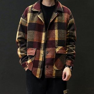 Plaid Buttoned Jacket from Sheck