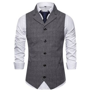 Plaid Buttoned Vest from Sheck