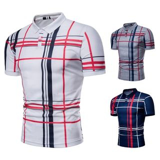 Plaid Short Sleeve Polo Shirt from Sheck