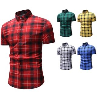 Plaid Short-Sleeve Shirt from Sheck
