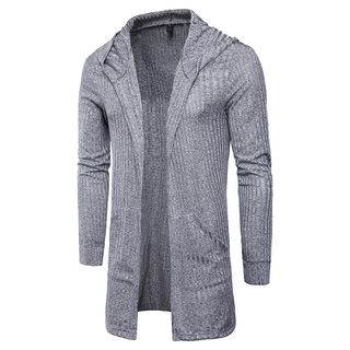 Plain Hooded Cardigan from Sheck