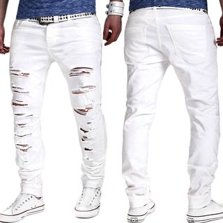 Ripped Straight-Fit Jeans from Sheck