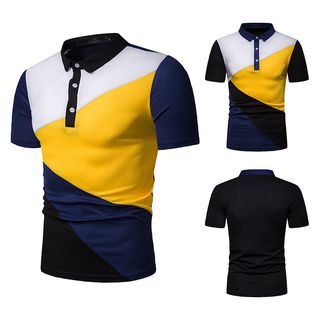 Short-Sleeve Color Block Polo Shirt from Sheck