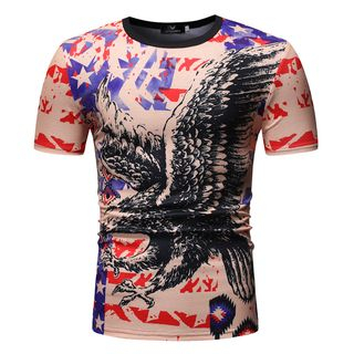 Short-Sleeve Eagle Printed T-Shirt from Sheck