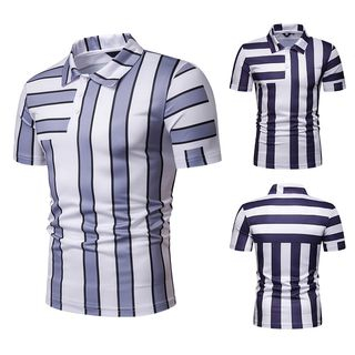 Short-Sleeve Striped Polo Shirt from Sheck