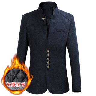 Stand Collar Single-Breasted Blazer from Sheck
