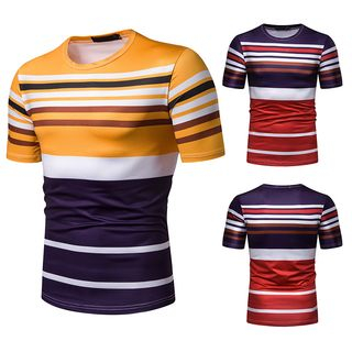 Striped Short-Sleeve T-Shirt from Sheck