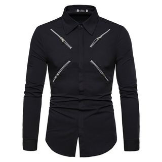 Zip Accent Shirt from Sheck