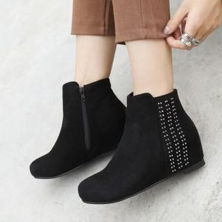Beaded Hidden Wedge Ankle Boots from Shoes Galore