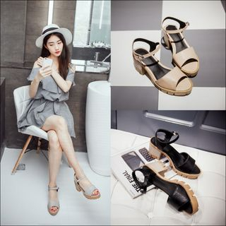 Block Heel Sandals from Shoes Galore