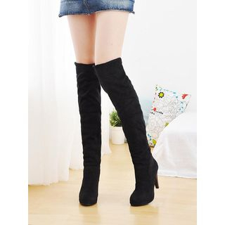 Heel Long Boots from Shoes Galore