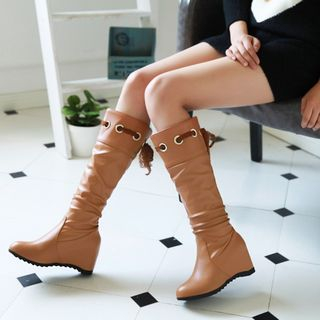 Hidden Wedge Tall Boots from Shoes Galore