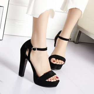 High Heel Ankle Strap Sandals from Shoes Galore