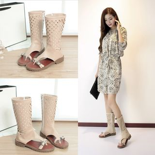 Perforated Sandal Boots from Shoes Galore
