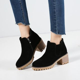 Platform Block Heel Ankle Boots from Shoes Galore