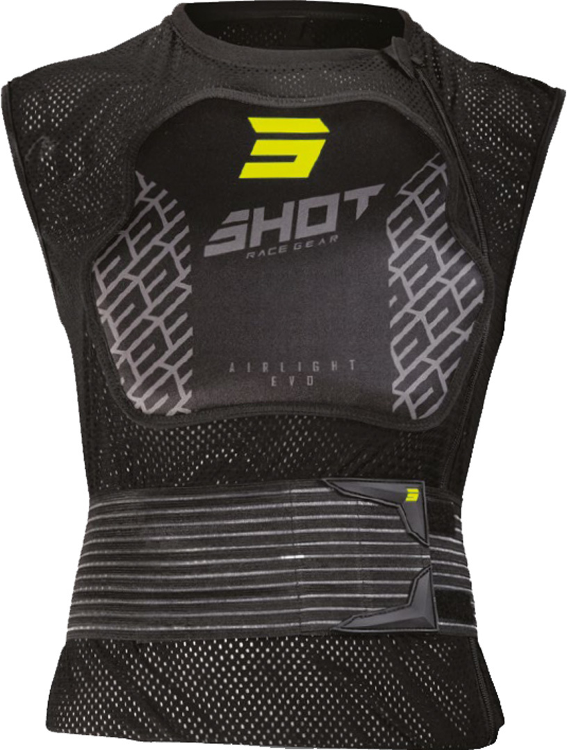 Shot Airlight 2.0 Protector Vest, black-yellow, Size S, black-yellow, Size S from Shot