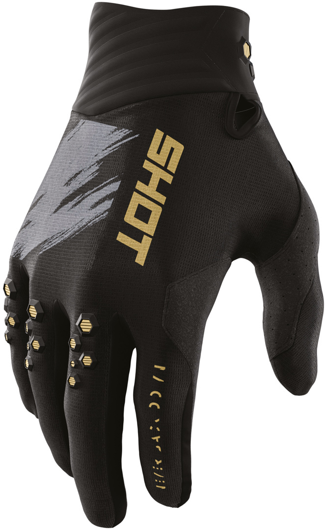 Shot Contact Draw Motocross Gloves, black-gold, Size 4XL, black-gold, Size 4XL from Shot