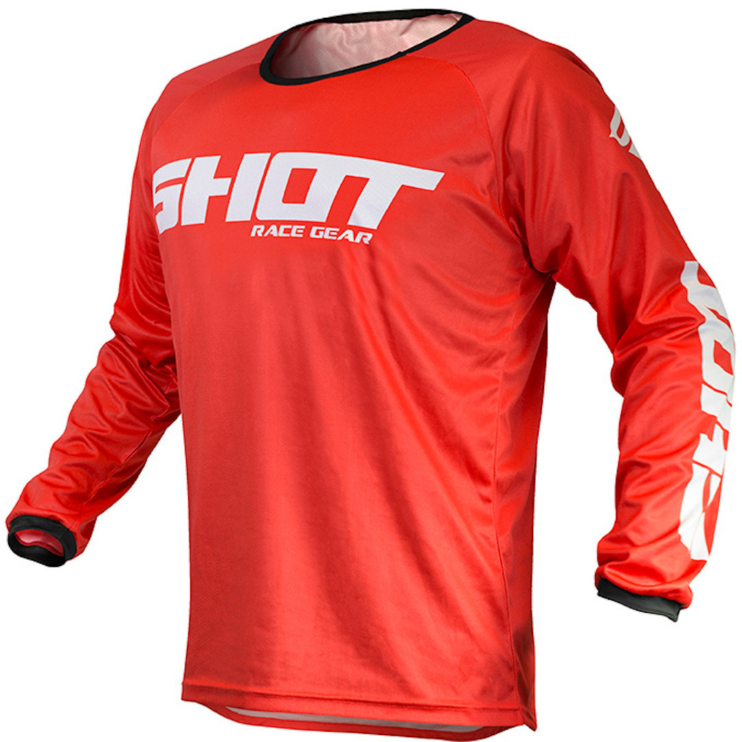 Shot Raw Motocross Jersey, red, Size M, red, Size M from Shot