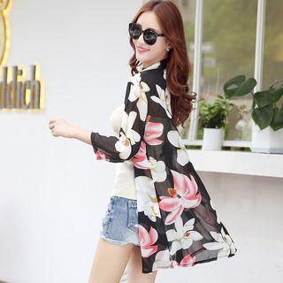 Floral Print Chiffon Light Jacket from Sienne