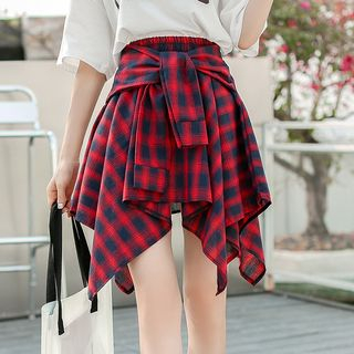 Plaid A-Line Skirt from Sienne