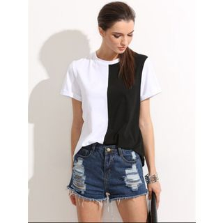 Short-Sleeve Color Block T-Shirt from Sienne
