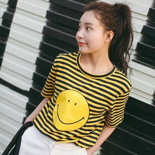 Short-Sleeve Printed Striped T-Shirt from Sienne