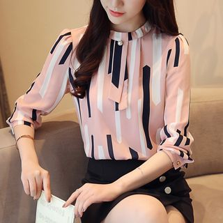 Striped Chiffon Blouse from Sienne