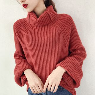 Turtleneck Ribbed Sweater from Sienne