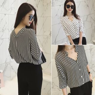 V-Neck Chiffon Blouse from Sienne