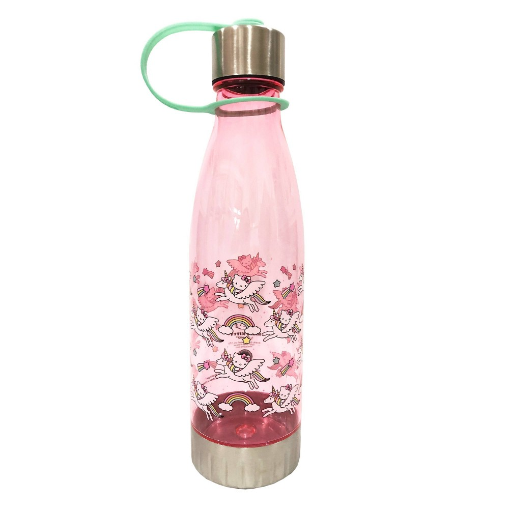 Hello Kitty 20oz Plastic Unicorn Tritan Water Bottle - Silver Buffalo from Silver Buffalo