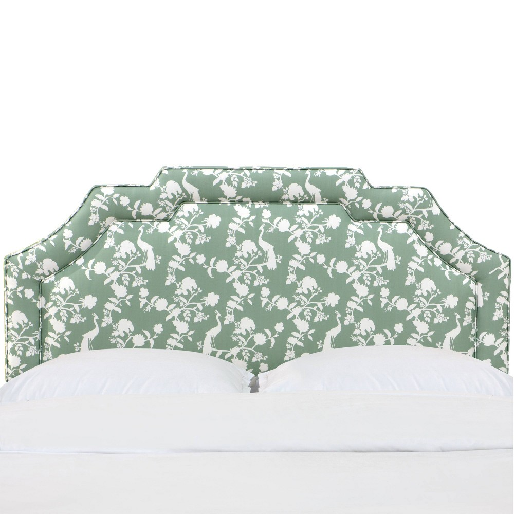 Full Eve Notched Border Headboard Peacock Silhouette Green - Skyline Furniture from Skyline Furniture