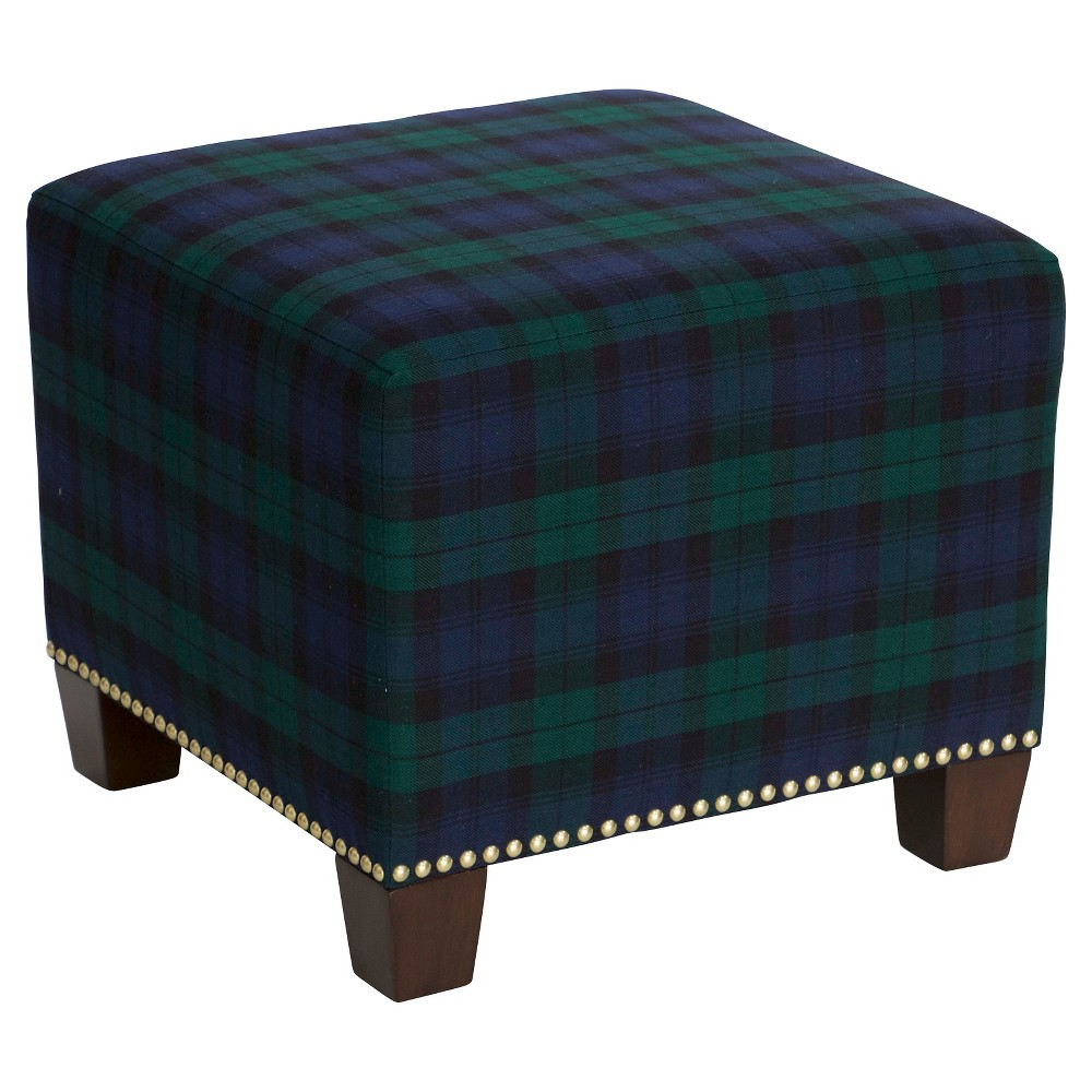 Ottoman - Blue - Skyline Furniture from Skyline Furniture