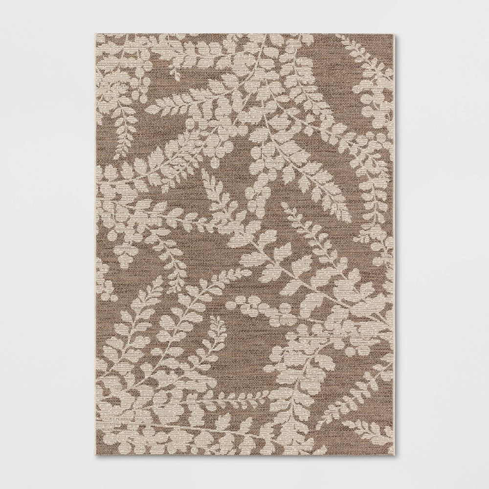5' x 7' Botanical Outdoor Rug Tan - Smith & Hawken from Smith & Hawken
