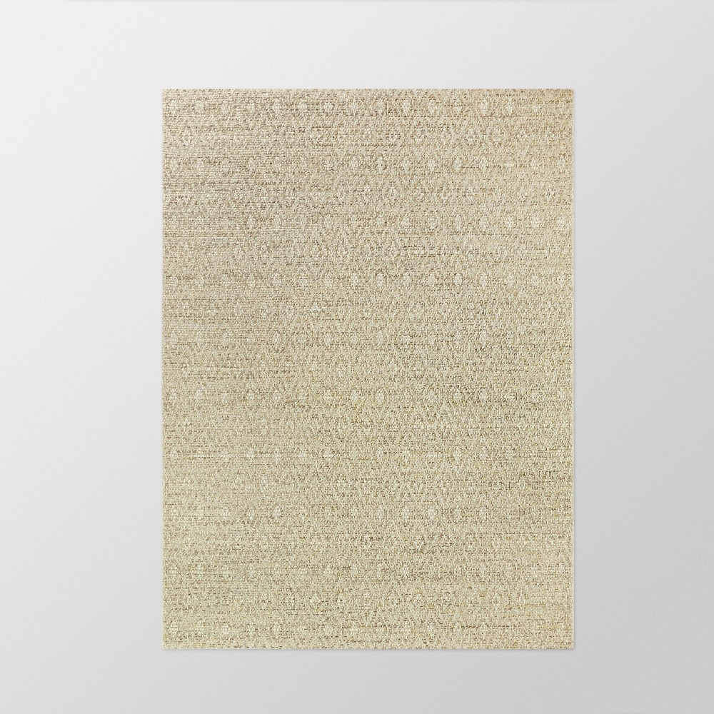 5' x 7' Distressed Diamonds Outdoor Rug Tan - Smith & Hawken from Smith & Hawken