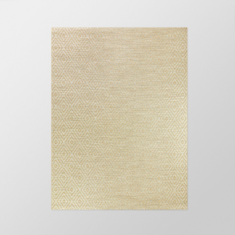 7' x 10' Prisma Diamond Outdoor Rug Tan - Smith & Hawken from Smith & Hawken