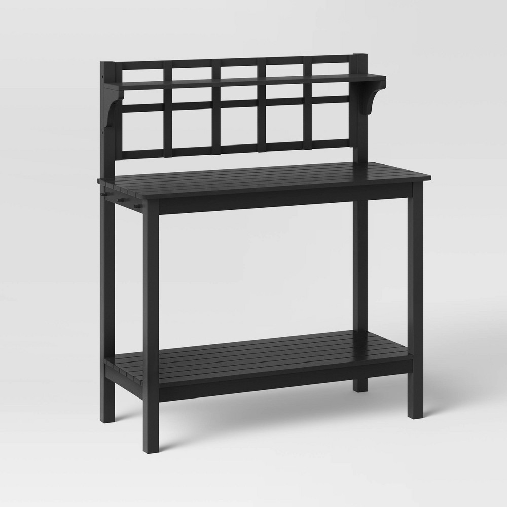 Blackened Wood Patio Potting Bench - Smith & Hawken from Smith & Hawken