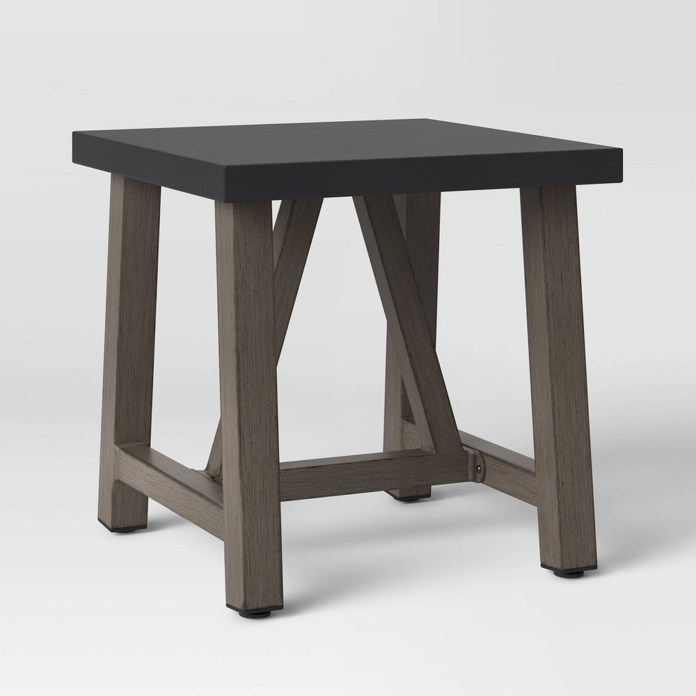 Concrete & Faux Wood Patio Accent Table - Smith & Hawken from Smith & Hawken