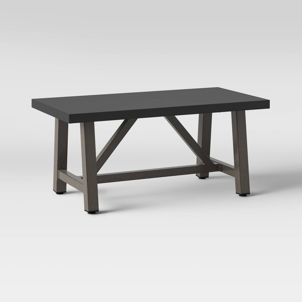Concrete & Faux Wood Patio Coffee Table - Smith & Hawken from Smith & Hawken