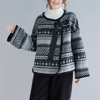 Patterned Long-Sleeve Cardigan from Snow Flower