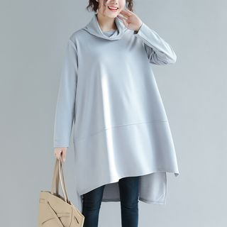 Plain Turtleneck Long-Sleeve Tunic from Snow Flower
