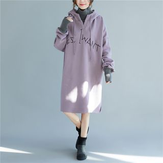 Turtleneck Drawstring Hoodie Dress from Snow Flower