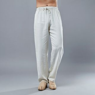 Drawstring Waist Linen Wide-Leg Pants from Sparrow Farm
