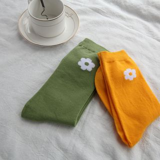 Flower Print Socks from Spider Lily