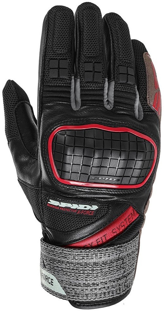 Spidi X-Force Gloves, black-red, Size 3XL, black-red, Size 3XL from Spidi